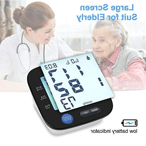 Blood Pressure Monitor Arm - Digital Large Cuff for * Memories, Storage Bag Included,