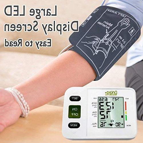 Blood Pressure Arm - Automatic Blood Pressure Machine Large Cuff BP for Pregnancy Blood Kit Home - Batteries, Included