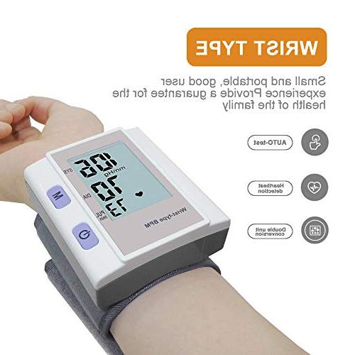 Landbow Blood Wrist - Monitor with LED Automatic Electric Wrist Pressure Machine with Approved