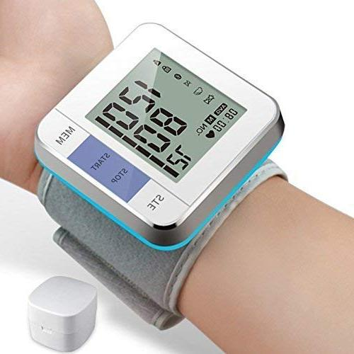 Perbeat Blood Wrist Auto Heart Rate Pulse Monitor Kits Travel Home Use, Users Mode, Memory Recall, for