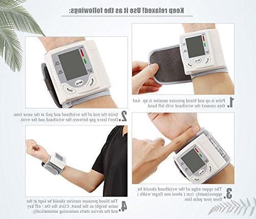 Clinical Blood Monitor Guard with Screen Portable Case BP Cuff Health Monitoring