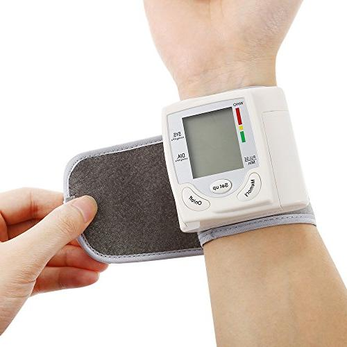 Clinical Blood Monitor Guard with Large Screen Portable Case BP and Cuff for Monitoring