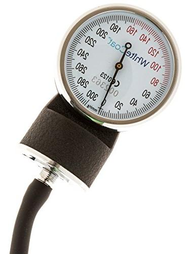White Sphygmomanometer Professional Monitor Black Carrying Case