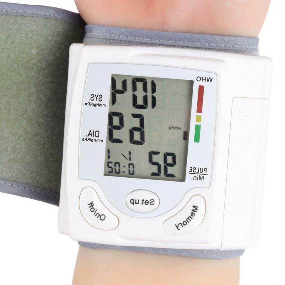automatic wrist blood pressure monitor bp cuff