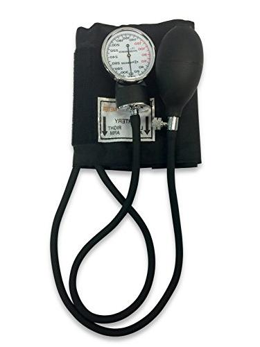 Primacare Manual Professional Blood Pressure Kit, Black with Stethoscope