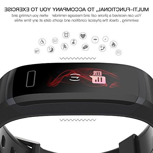 WearPai Tracker with Heart Rate Monitor,IP67 Sleep HD Pedometer Watch Smart for Android and