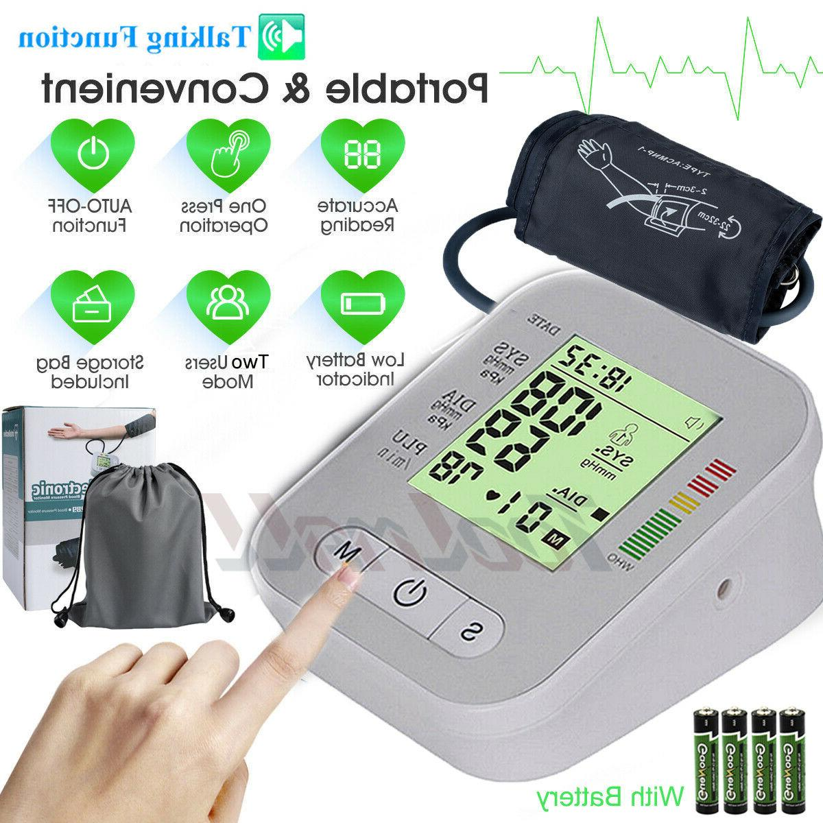 fully automatic upper arm blood pressure monitor
