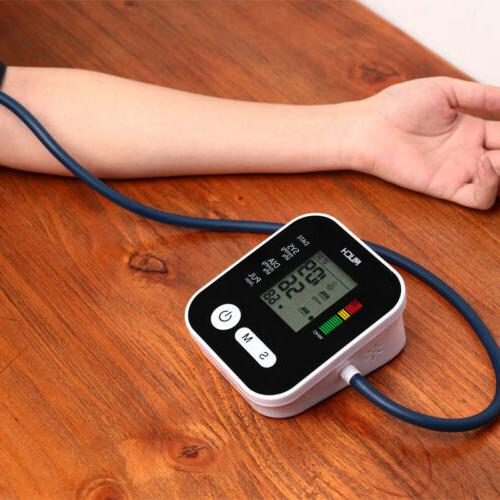 LCD Cuff Blood Pressure Monitor Heart Rate Beat Pulse