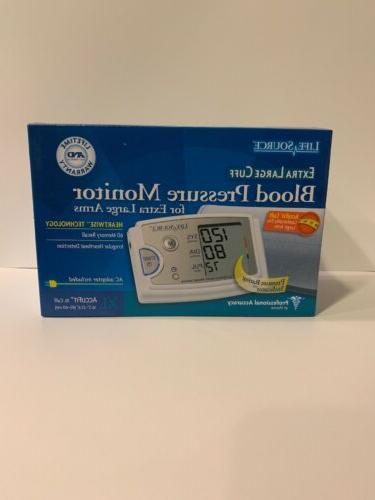 life source blood pressure monitor with extra