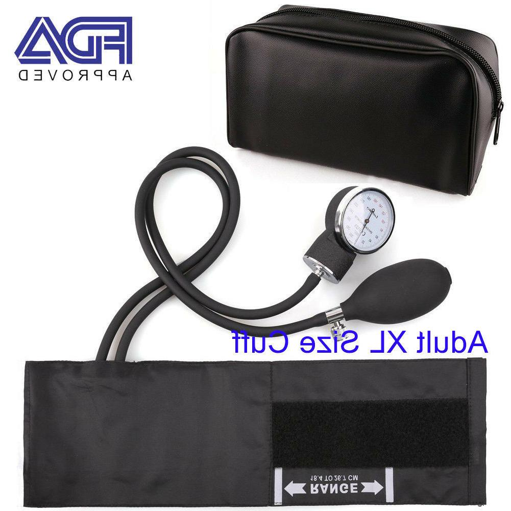 Manual Aneroid Sphygmomanometer Blood Pressure Cuff BP Monit