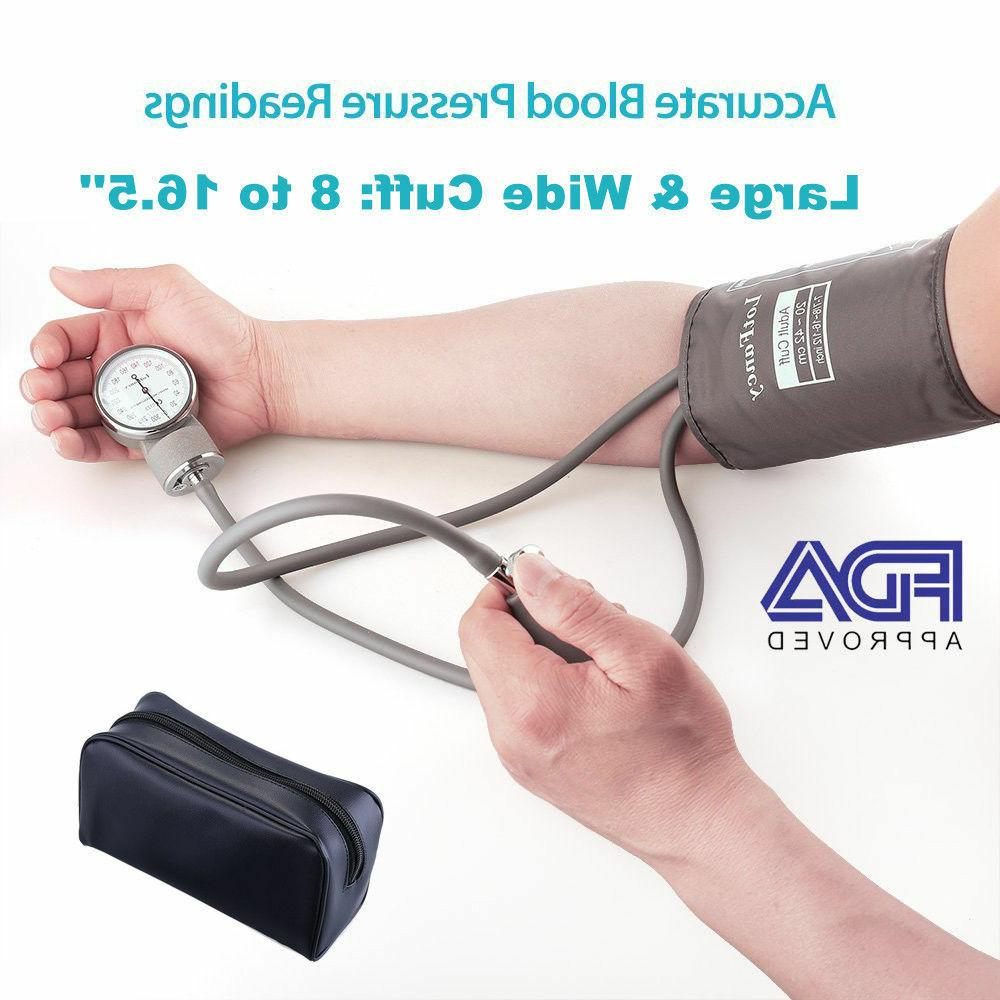 Manual Blood Monitoring Cuff Gauge