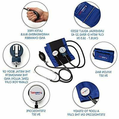 Manual Pressure Cuff By Aneroid Sphygmomanometer With Case