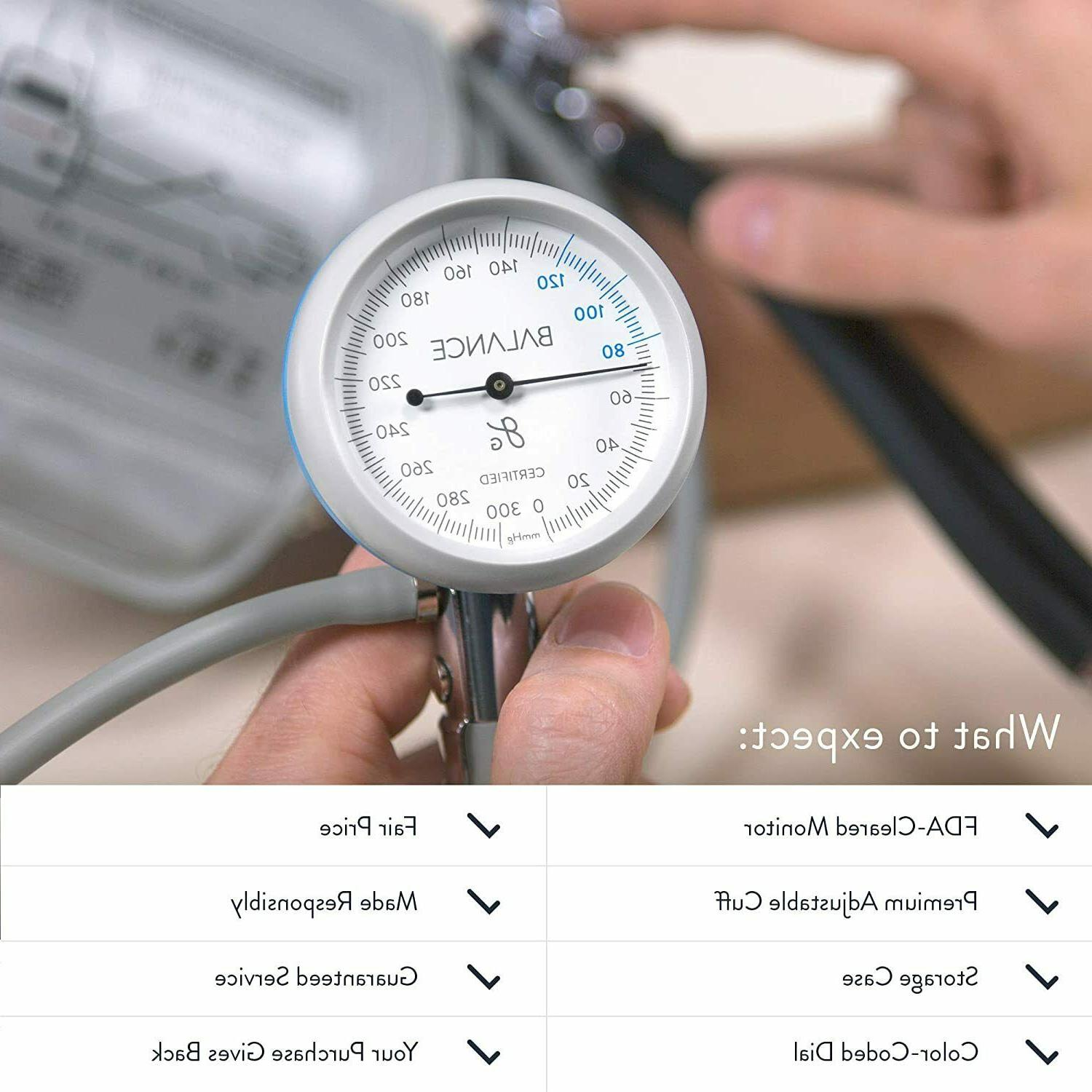 Manual Sphygmomanometer Home Pressure Monitor Arm Health