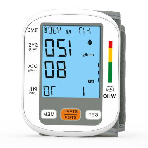 Portable Auto Pressure BP Cuff Backlight Meter