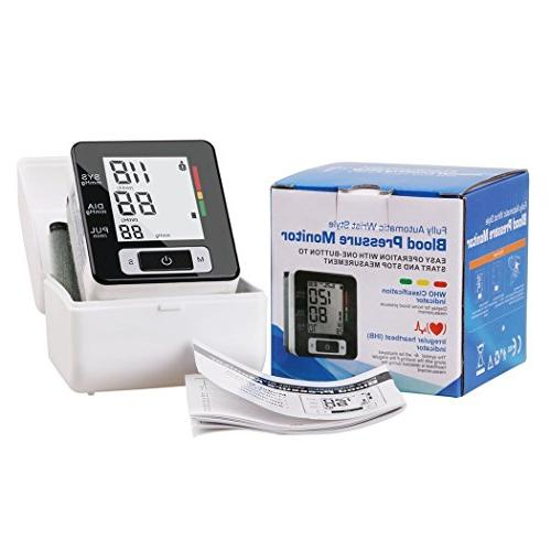 Fam-health Wrist Blood Pressure Monitor with Large User Modes, Adjustable Cuff,IHB Indicator and Memory Recall 2019 Version