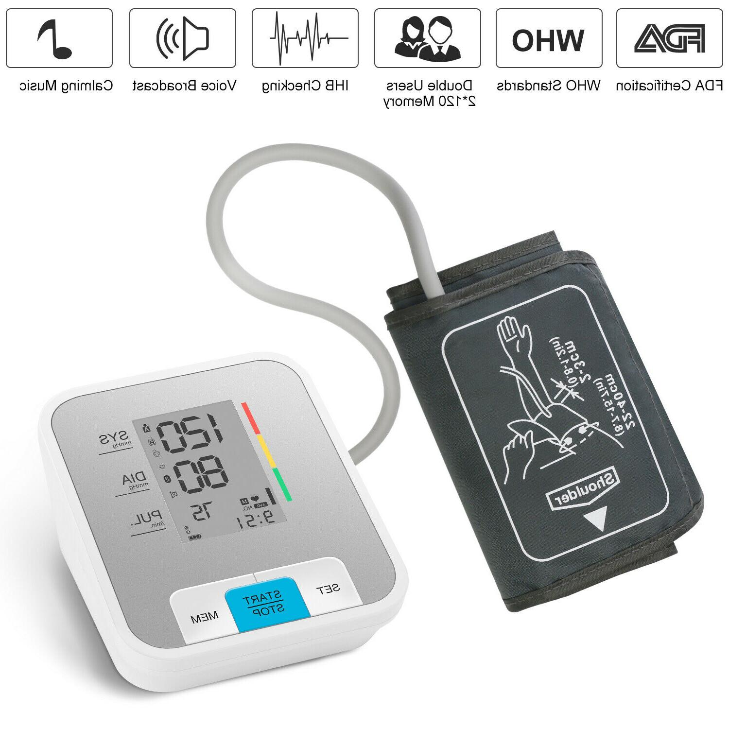 professional automatic blood pressure monitor upper arm