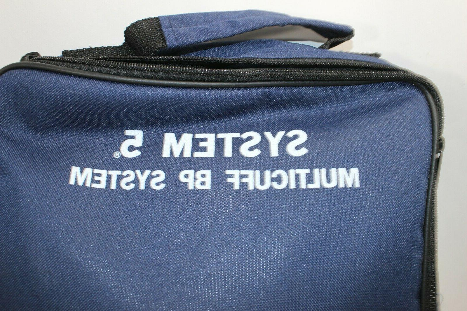 ADC 5 Blood Cuff Set System Navy Aneroid