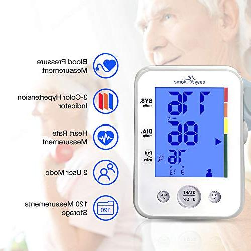 Easy@Home Arm with 3-Color Hypertension display and approved Indicator, 2 2 Warranty