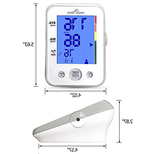 Digital Arm Blood with 3-Color Hypertension display approved Indicator, 2