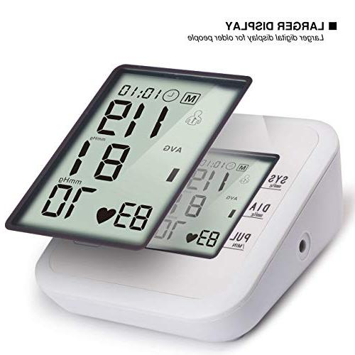 Upper Arm Monitor S LCD Display Broadcast with Adjustable Cuff for Memory Suitable Home Use