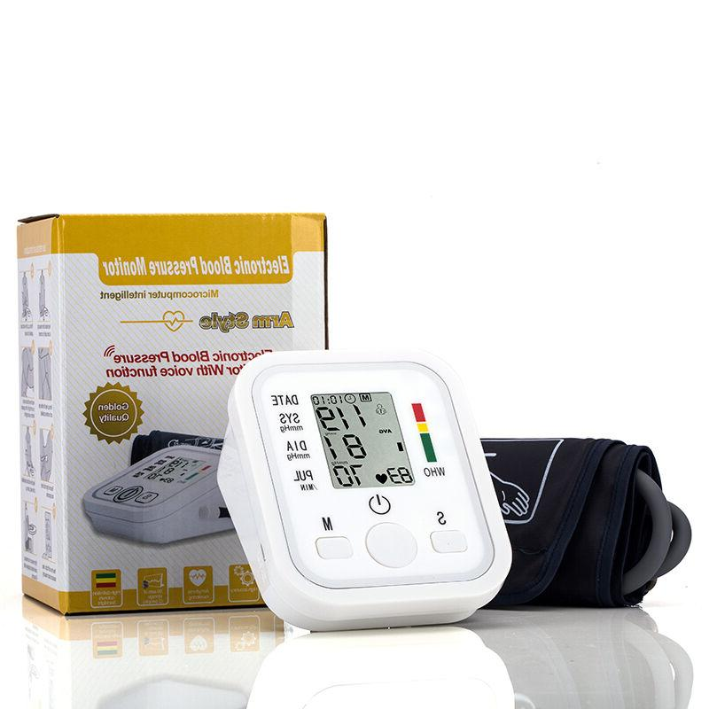 Upper Blood Pulse Monitor Digital LCD Sphygmomanometer