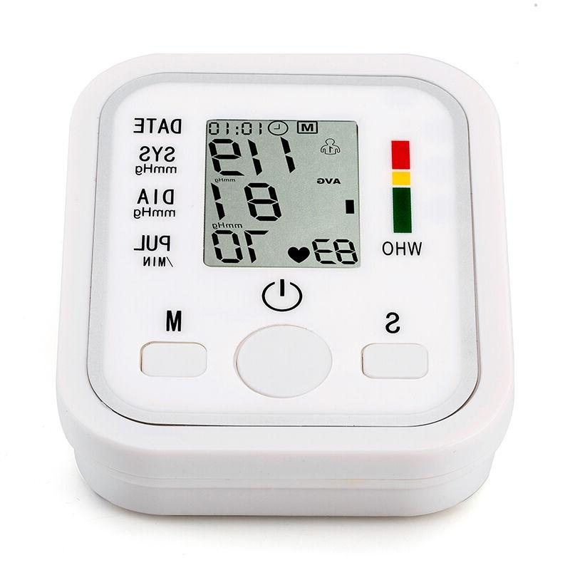 Upper Arm Blood Pressure Pulse Monitor Health Digital LCD