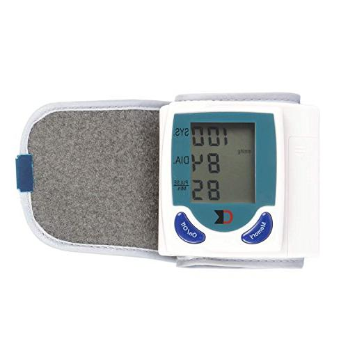 TeqHome Wrist Monitor with Display Portable BP Machine Perfect for Health Monitoring