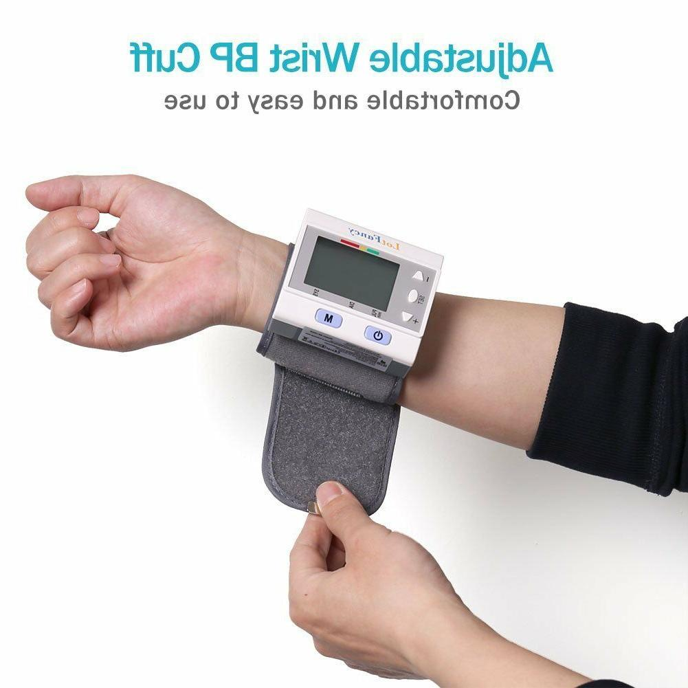 LotFancy Wrist Blood Pressure Monitor BP Cuff Gauge Digital