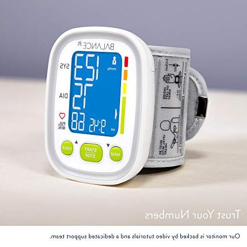 Wrist Blood Pressure Monitor Cuff from GreaterGoods, , Free App for Manual Tracking, and