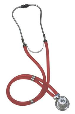 Mabis Legacy Sprague Rappaport-Type Adult Stethoscope, Red