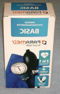 Manual Blood Pressure Cuff by PARAMED –  BASIC Aneroid Sph