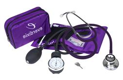 New PURPLE Adult BP Cuff Blood Pressure Kit With Matching Se