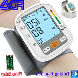 Portable Auto Wrist Blood Pressure Monitor Machine BP Cuff V