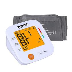 Upper Arm Electronic Blood Pressure Monitor with Cuff, Sawpy