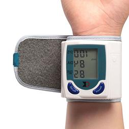 TeqHome Wrist Blood Pressure Monitor with Digital LCD Displa