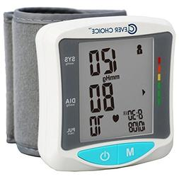 Wrist Blood Pressure Monitor English Spanish Talking With Po