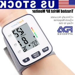 Wrist Blood Pressure Monitor BP Cuff Machine For All Size Wr