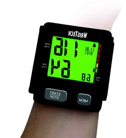 WrisTech Black Blood Pressure Monitor W/ Adjustable Wrist Cu